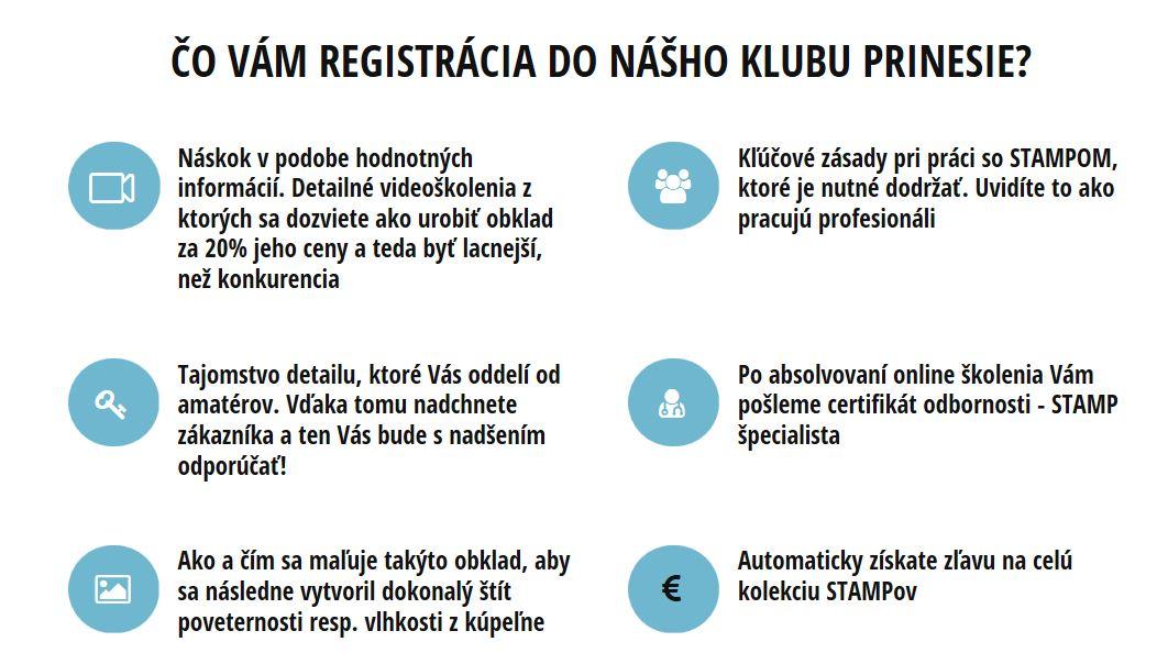Vyhody registracie STAMP klub